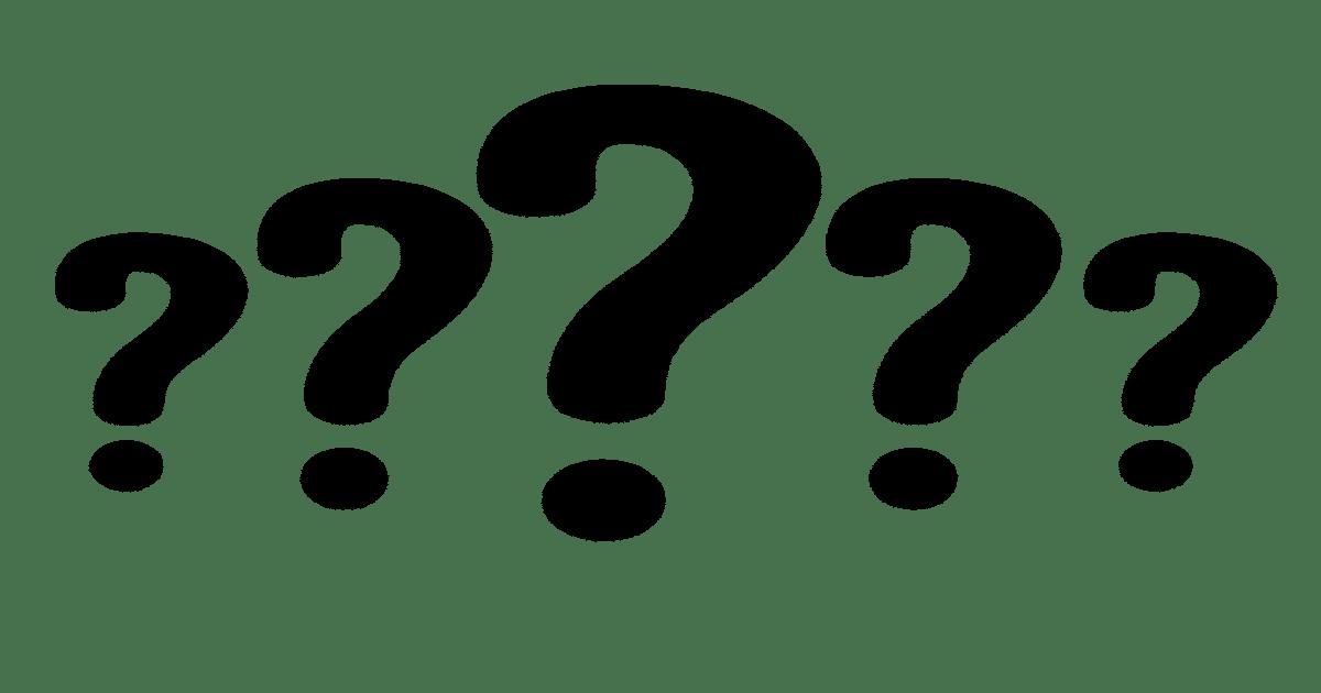 Várias interrogações pretas num fundo branco - Entenda o que dente mole em adultos pode significar