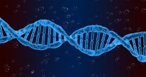 Imagem de um DNA - É preciso ter cuidado com a Síndrome de Hallermann-Streiff-François