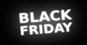 """Imagem de um fundo preto escrito em branco """"Black Friday"""" - Black Friday na odontologia: pode ou não pode?"""